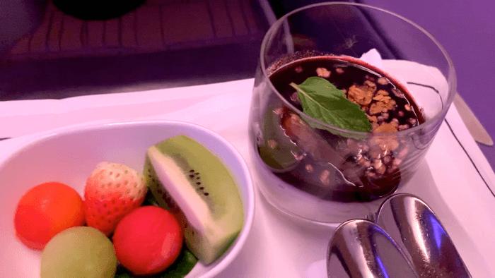 อาหารบนเครื่อง Business class การบินไทย
