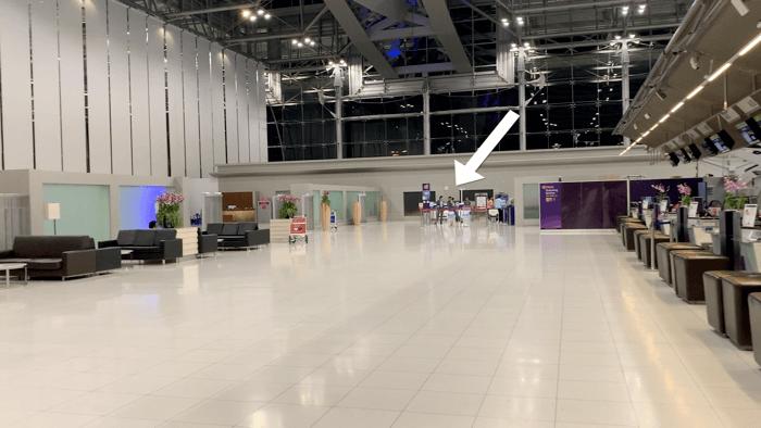 เชคอิน Business Class การบินไทย