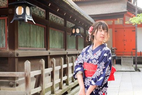 ชุดยูกาตะแบบเกียวโต