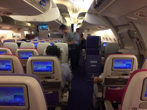 ที่นั่ง รีวิวการบินไทยA380