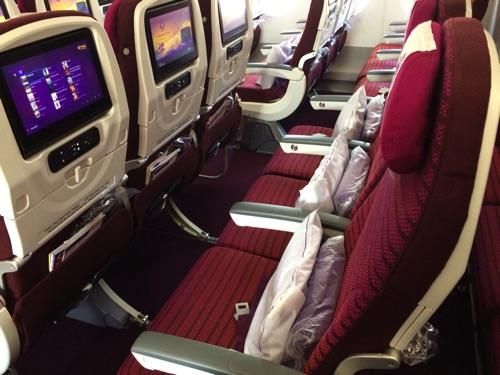 ที่นั่ง การบินไทย ชั้นประหยัด A350 รีวิว