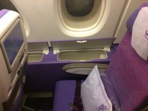 รีวืว ที่นั่งEconomy class การบินไทย