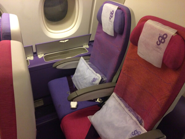 Economy class A380 Thai Airways