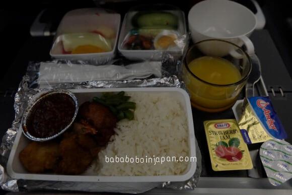 อาหารบนเครื่องสิงคโปร์แอร์ไลน์