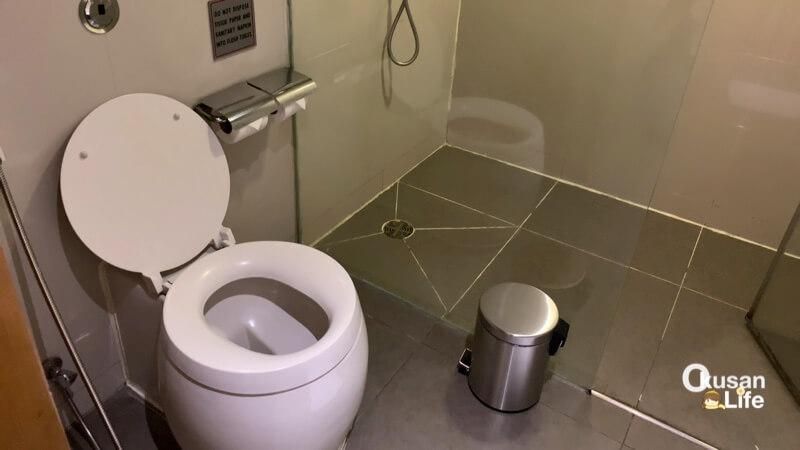 รีวิว ห้องอาบน้ำการบินไทย สุวรรณภูมิ